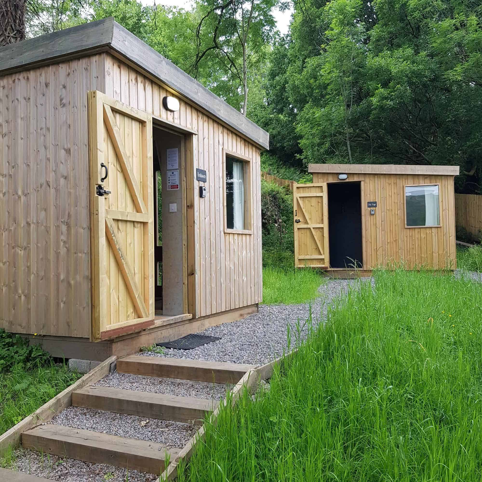 Two glamping cabins