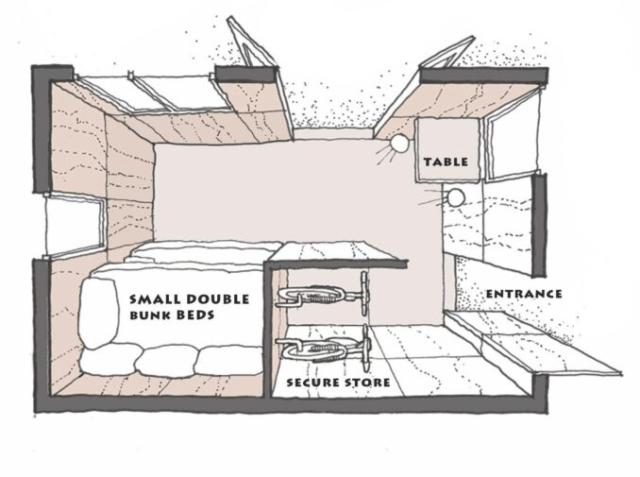 original cabin layout plan
