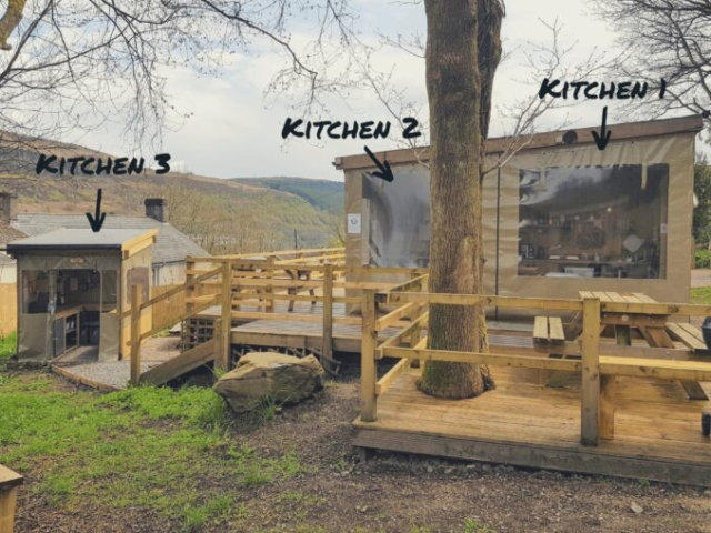Roost kitchens with labels